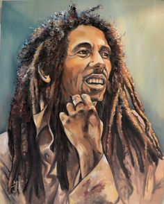 *Bob Marley* More fantastic paintings, pictures and videos of *Bob Marley* on: https://de.pinterest.com/ReggaeHeart/ ©John Uilenberg/ portret-schilder.com