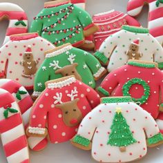 Cookies for the party♡ ...Of course, it was the ugly Christmas sweater party!! • #christmas #uglysweater #icingcookies #decoratedcookies #アイシングクッキー