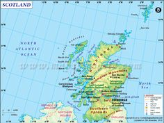 Scotland Tourist Attractions - Discover popular places to visit in Scotland along with travel maps, facts, best time to visit & location of major tourist destinations. Scotland Travel Guide, Scotland Map, Scotland Country, Ben Nevis, Orkney Islands, Map Outline, Tourist Map, Country Maps, Inverness