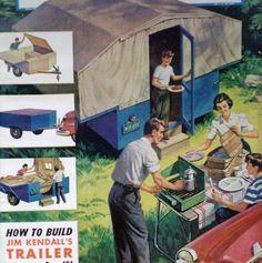 How to Build Pop Up CAMPING TENT TRAILER Camper Original 1954 DIY