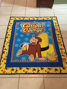 A personal favorite from my Etsy shop https://www.etsy.com/listing/227571054/curious-george-babytoddler-quilt