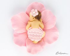 Baby Flower Cake Topper  Flower Topper  Baby in Flower