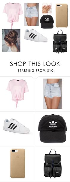 """Summer Fun"" by emma-tumbles ❤ liked on Polyvore featuring Boohoo, PacSun, adidas and Aspinal of London"