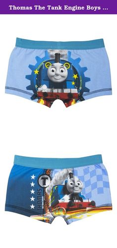 Thomas The Tank Engine Boys Boxer Shorts - 2-5 Years - 4-5 years (110 cms). Any Thomas The Tank Engine fan will love these awesome boys boxer shorts. The trunks have striking full colour image front and rear images of Thomas at full steam. Made from 95% cotton and 5% elastane with an elasticated waist. The boys boxers are fully machine washable at 40 degrees and can be ironed on a cool setting inside out. These fantastic Thomas The Tank Engine Boxers Shorts are available in sizes 2-3…