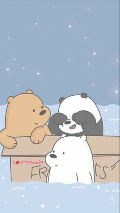 We Bear Ice Bear We Bare Bears Cute Wallpapers We We throughout We Bare Bears Wallpaper Hd Iphone - All Cartoon Wallpapers