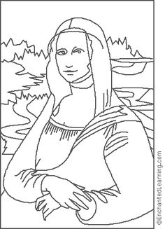 Enchanted Learning :da Vinci: Mona Lisa coloring page