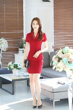 Summer Formal Black Blazeer Women Business Suits with Skirt and Jacket Sets Fashion Ladies Beauty Salon Office Uniform Designs