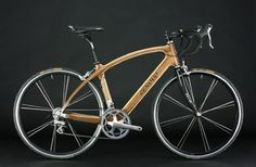 Renovo Hardwood Bicycles' Pursuits are made from two CNC'd halves of wood bonded together lengthwise, creating a beautiful piece of work. The bike, made from a Renovo's shop in Portland, f… Bycicle Illustration, Bycicle Art Wooden Bicycle, Wood Bike, Bicycle Art, Bicycle Design, Buy Bike, Road Bike Women, Bike Frame, Wood Design, Port Orford