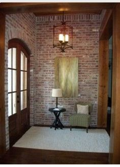 Many people love brick walls. And the brick walls are there for a reason. With a brick walls at your home, your home will never go out of style. A beautifully finished space with exposed brick is both modern and elegantly nostalgic of the past. Acadian Style Homes, Acadian House Plans, Porch House Plans, Best House Plans, Home Design, Design Ideas, Design Design, Style At Home, Acme Brick