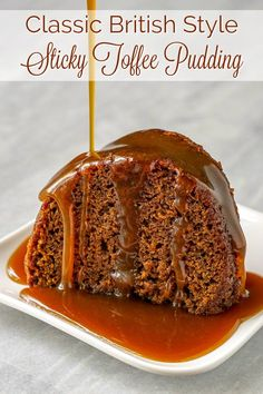 Perfect Sticky Toffee Pudding - in traditional English style with toffee sauce!- Perfect Sticky Toffee Pudding – in traditional English style with toffee sauce! Perfect Sticky Toffee Pudding – in traditional English… - British Desserts, British Recipes, English Desserts, Just Desserts, Delicious Desserts, Dessert Recipes, Mini Desserts, Healthy Desserts, Christmas Pudding