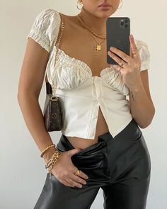 """Gergana Ivanova on Instagram: """"Happy Fridayyyy 🦋🦋 top is @withjean and pants are @sundarbay"""" White Outfits, Summer Outfits, Casual Outfits, Fashion Outfits, Summer Minimalist, Minimalist Outfits, Dressed To The Nines, Unisex, Street Style Summer"""