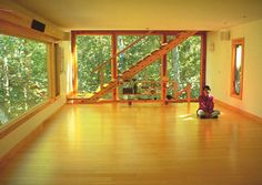 Wouldn't it be lovely to have a yoga studio in your home?