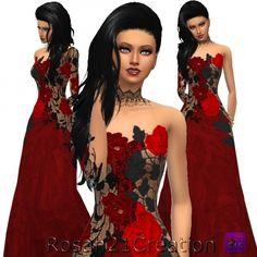Gothic dress at Sims Dentelle via Sims 4 Updates