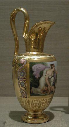 Milk jug (pot à lait Étrusque) Porcelain Ceramics, Ceramic Art, Teapot Cover, Ancient Greek Art, Gold Furniture, Tea Sets Vintage, Pots, Gold Handbags, Selling Antiques