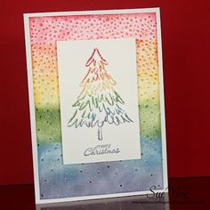 Peaceful Pines - Colours of the Rainbow MM173: Miss Pinks Craft Spot #Peacefulpines #rainbow