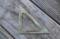 Vintage brass square by AppalachianAxeworks on Etsy