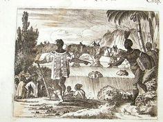 john ogilby america | Ecuador: 1671 copper plate, Blood Lake, native, Ogilby | Albion Prints