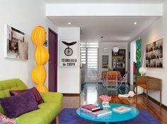 Apartamento pequeno: 65 m² coloridos e descolados - Casa