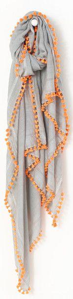 Matta Dupatta Fluo -- this is tassels, not crochet, but i can imagine a similar effect with a crochet edging