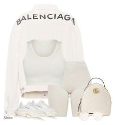 """""""Untitled #465"""" by elarina ❤ liked on Polyvore featuring Balenciaga and Gucci"""