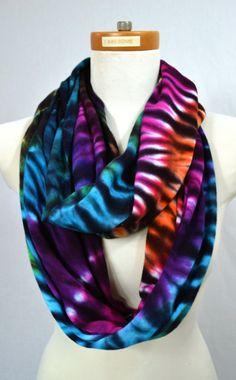 Tie Dye Scarf Infinity Scarf Nursing Cover by 2dye4designs on Etsy