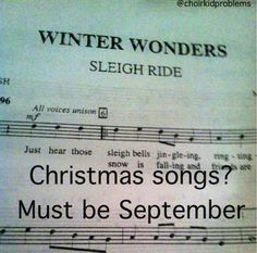 """Exactly! """"Yeah, I broke out the Christmas yesterday.""""  """"But... It's... Only September... ?"""""""