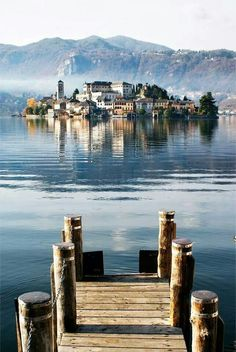 San Giulio Island (Novara), Lake Orta, Piemonte, Italy I have such wonderful memories of this mystical place. Places Around The World, The Places Youll Go, Places To See, Around The Worlds, Wonderful Places, Beautiful Places, Grands Lacs, Adventure Is Out There, Dream Vacations