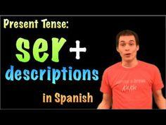 01061 Spanish Lesson - Present Tense - Ser + descriptions & characteristics - YouTube