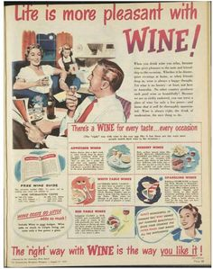 Laughing at this old ad.  Wine probably cost $1 back then.