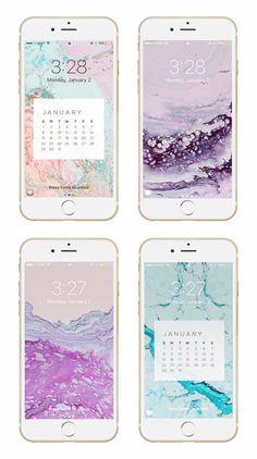 May Designs Blog - JANUARY GEODE PHONE + DESKTOP WALLPAPER DOWNLOADS