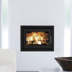 Inset Wood burner.