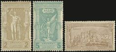 """1896 """"Olympic games"""" issue in complete set of 12 values, all stamps are hinged"""