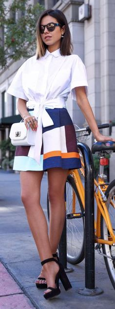 Fashion Biking Outfit Idea by Vivaluxury