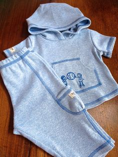 "Organic Baby Clothing :  Boy 's Set "" I love my planet "" /  Pre Consumer Recycled Cotton on Etsy, $47.76 AUD"