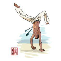 Encres : Capoeira – 608 [ #capoeira #mypaint #illustration]