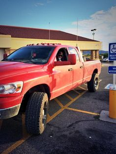 Red Dodge Ram Truck