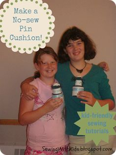 Sewing With Kids: Turorial: No-sew Pin Cushion
