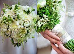 White wedding wildflowers