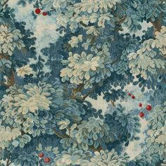 Scalamandre: Marly/Colony Collection in Blues, cut and uncut velvet