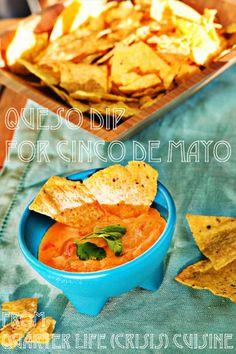 Homemade queso dip for Cinco de Mayo! From Quarter Life (Crisis) Cuisine