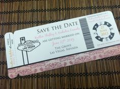 Vintage Las Vegas Theme Boarding Pass by alisamariedesigns on Etsy, $25.00