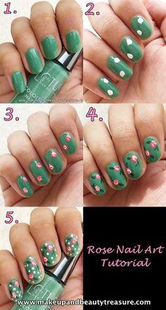 DIY Rose Art for nails