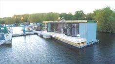 Plans To Design And Build A Container Home - The shipping container home afloat at Bedford Marina. - Who Else Wants Simple Step-By-Step Plans To Design And Build A Container Home From Scratch? Shipping Container Swimming Pool, Container Pool, Storage Container Homes, Building A Container Home, Container Cabin, Container Buildings, Container Architecture, Container House Plans, Roof Architecture