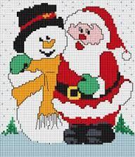 Image result for bordados en punto de cruz navideños gratis