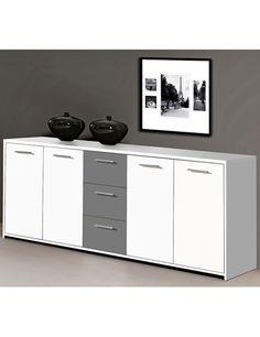 Buffet «Lounge», blanc/noir