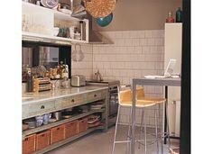 mueble tipo antiguo en cocina