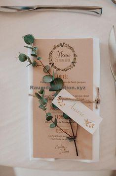 56 Ideas Nature Inspired Wedding Invitations Place Cards For 2019 Wedding Menu, Wedding Themes, Wedding Table, Wedding Favors, Rustic Wedding, Our Wedding, Wedding Planning, Wedding Country, Table Decoration Wedding