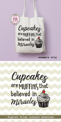 Cupcakes believed in miracles inspirational by LoveRiaCharlotte