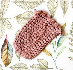 Crochet Soap Saver Sack Bag Cozy Cotton Scrubbie by NutmegCottage, $7.00