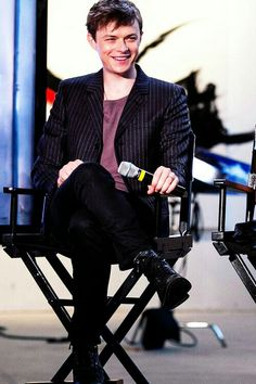 Dane DeHaan at the AOL headquarters